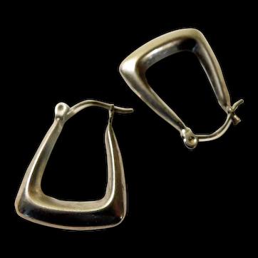 Vintage Native American Earrings 14K White Gold Signed GGJ Gary G Johnson