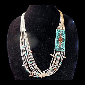 Vintage Native American Necklace c70s