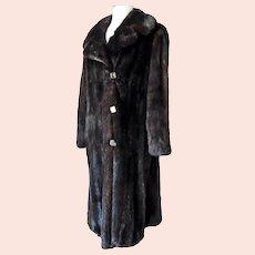 Luscious Vintage Mink Coat Full Length Milton Cooperstein Philadelphia