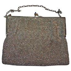 Evening Bag in Cut Steel Beads, New World Brand c1915 - 25