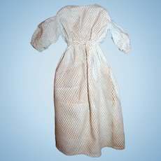 Early 19thC Doll Dress, Gigot Sleeves