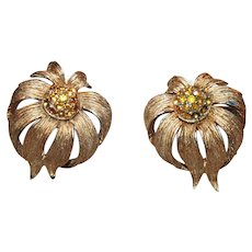 Vintage Hattie Carnegie Signed Earrings c1955