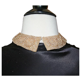 Vintage Pearl Collar Detachable c1953, Never Worn