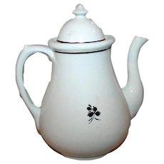 Tea Leaf Ironstone Tea Coffee Pot c1889-1911 J H Middleton