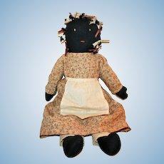 "Vintage Black Americana Cloth Doll Ex-Collect. 25.5"""