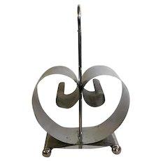 Art Deco Chrome Scroll Magazine Rack c1930s Fred Farr for Revere Sculptural & Stunning