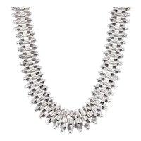 Antique: Victorian Silver Collar Necklace (Greco-Etruscan Revival)