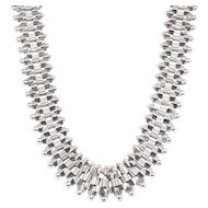 Antique: Victorian Silver Collar Necklace (Greco-Etruscan Revival)