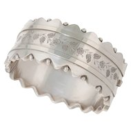 Antique: Victorian Silver Bangle Bracelet with Orb Detail