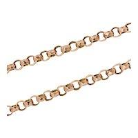 Antique: Victorian Gold (9ct) Chain Link Necklace (Belcher Links)