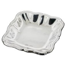 Vintage: Small Italian Solid Silver Tray (Trinket or Ring Tray)
