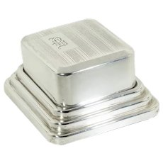Vintage: Art Deco Sterling Silver Ring Box with Striped Engine Turning