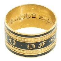 Antique: Mourning Ring, Antique Memorial Ring, Georgian Ring Hallmarked 1824