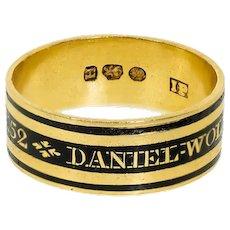 Antique: Mourning Ring, Antique Memorial Ring, Georgian Ring Hallmarked 1803