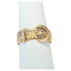 Antique: 18ct Gold Buckle Ring (Hallmarked 1904)