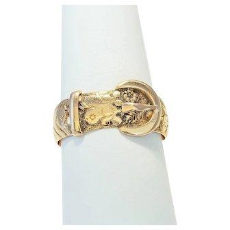 Antique: 18ct Gold Buckle Ring (Hallmarked 1904)