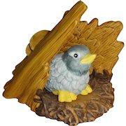 Franklin Mint Woodland Surprises Bluebird Figurine