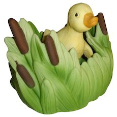 Franklin Mint Woodland Surprises Duck Figurine