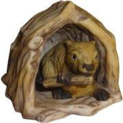 Franklin Mint Woodland Surprises Beaver Figurine