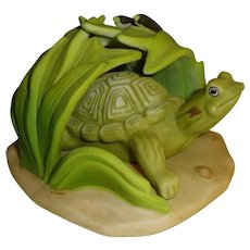 Franklin Mint Woodland Surprises Turtle Figurine