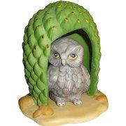 Franklin Mint Woodland Surprises Owl Figurine