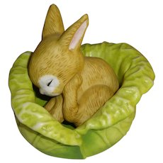Franklin Mint Woodland Surprises Rabbit Figurine