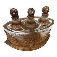 Art Nouveau German Brass and Copper Ormolu Perfume Caddy
