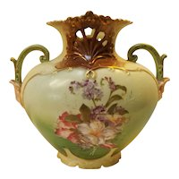 19th Century Hand Painted Victorian Porcelain Vase