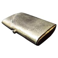Mid-Century Hammered Aluminum Vesta or Match Safe