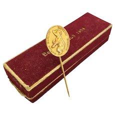 Vintage Golden Bear Stickpin From 1954 German Presidential Election