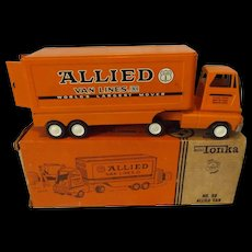 1960's Mini Tonka No. 98 Allied Van Line Truck and Trailer