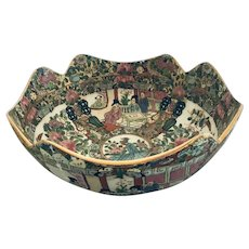 Large Qianlong Period Famile Rose Chinese Export Bowl