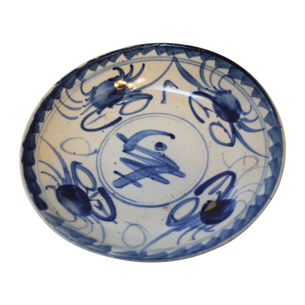 Click to expand  sc 1 st  Ruby Lane & Ming Dynasty Swatow Blue and White Crab Plate SOLD | Ruby Lane