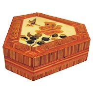 Butterfly and Lotus Chinese Wheat Box