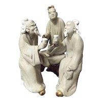 Mid Century Chinese Mud Man Grouping