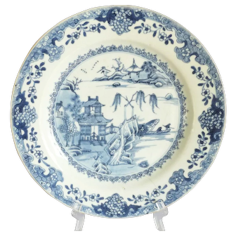 18th Century Chinese Porcelain Blue and White Kangxi Plate