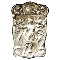 Bristol Silver Company Art Nouveau Silver Vesta
