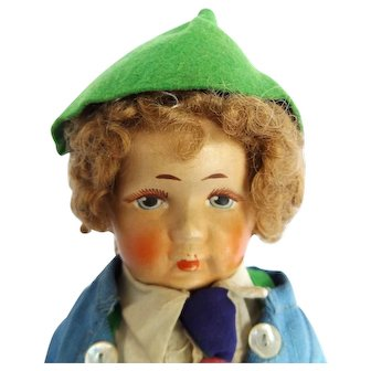 Vintage German Bing Brothers Art Doll Company Cloth Doll