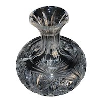 American Brilliant Period Cut Crystal Captains Wine Carafe