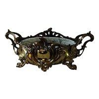 Gold Plated Bronze French Nouveau Centerpiece Bowl