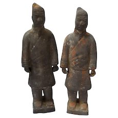 Tang Style Terra Cotta Warrior Pair