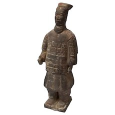 Chinese Tang Style Standing Warrior Statue