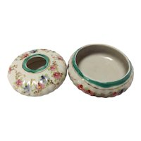Vintage Hand Painted Porcelain Hair Receiver