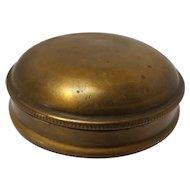 19th Century Brass Men's Snuff Box