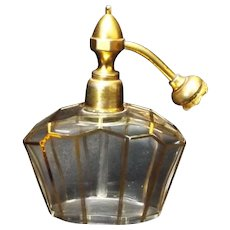 French Crystal Art Deco Perfume Atomizer
