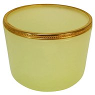 Light Yellow Opaline Uranium Glass Dresser Bowl
