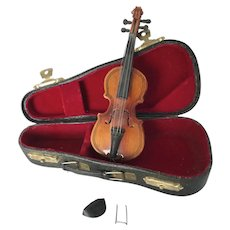 Vintage Miniature Scale Violin and Case