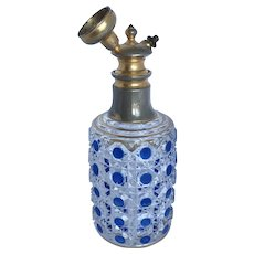 Antique Christian Dorflinger Stained Cut Glass Perfume Atomizer
