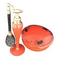 Vintage DeVilbiss Art Deco 1927 Powder and Perfume Set