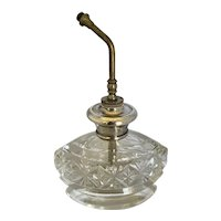 Vintage Cut Crystal and Sterling Silver Pump Perfume Atomizer